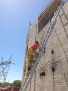 Carry a ladder up a ladder? SURE!
