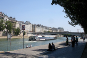 Tour boat on the River Seine