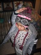 wearing nana's pretty hat