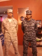 My son the Airman USAF, My daughter the Fireman USN