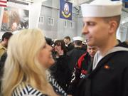 Mom and Her Son, the Sailor, the look says it all!