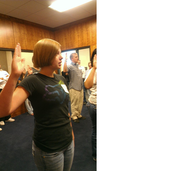 Swearing in for active duty!