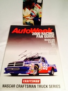 Stacey Compton (NASCAR Driver)  Signing cover of AutoWeek 2000 Racing Fan Guide