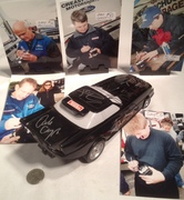 John Force, Shirley Muldowney, Kenny Bernstein, and 8 others signing Tonka Black Funny Car