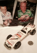 Ashley Force & Austin Coil signing Castrol, Pinewood Derby Car