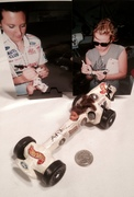 Ashley & Courtney Force signing Hot Wheels, Pinewood Derby Car