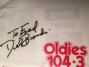 #46D-44, RADIO, Dick Biondi, DJ, 104.3 WJMK, Signed, Plastic Bag,
