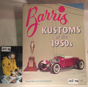 #25-42, Hollywood, George Barris, Signing, Barris Kustoms of the 1950s, Book, 1994, inside cover,