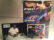 13-78, NASCAR, Ted Musgrave, Signing, Hot Wheels, Pro Racing,#16, Family Channel, 1/64 scale, die cast, 1997, Blister Pack,