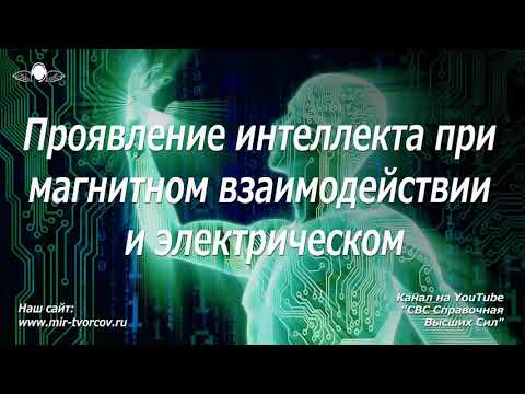 587 Проявление интеллекта при магнитном взаимодействии и электрическом