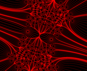 Turbulent Ring's Full-Symmetry Fractal Field Lines (rotated)