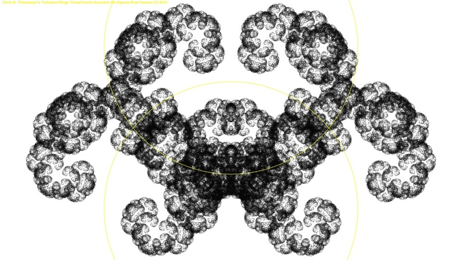 TTRing Half-Symmetry Fractal Zoom with no SQRT's!