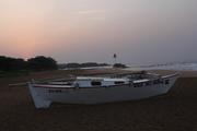 Sunrise, ready to step the mast