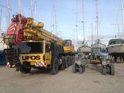 Messolongi Marina's crane and trailer
