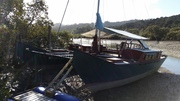 Tillys deck tent sides up