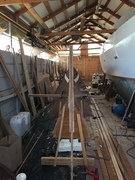 First stringers on the second hull