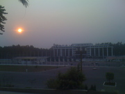 Sunset in Brazzaville, Republic of Congo after day 1 of JCertif, Congo's Technology Conference