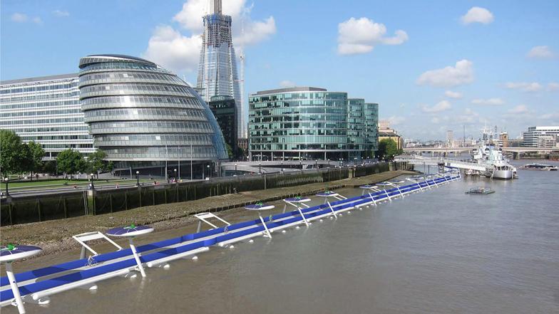 Drijvend fietspad concrete optie voor Londen.