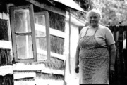 Woman in Straw House