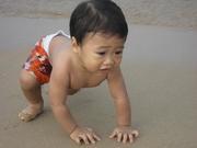 น้องโอมเที่ยวทะเลครั้งแรก