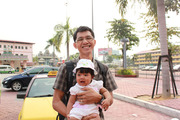 Finna & Daddy in Malaysia