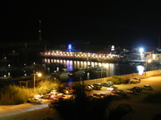 The marina dining one late eve, Ashqelon