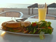 Oh yes, dinner on the beach Ashdod, Isreal