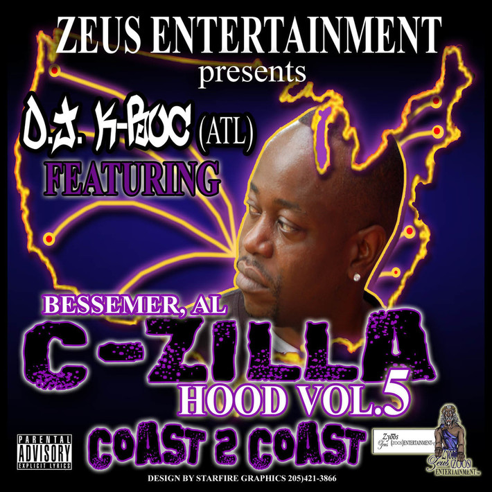 C-ZILLA FRONT OF CD INSERT