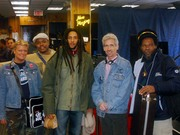 L to R Cristy Barber,Norman Dore Spivey,Julian Marley,Tom He