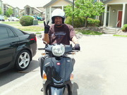 Khalil's new scooter!