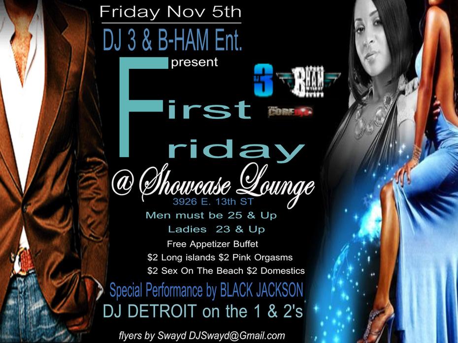 DJ 3 B ham First Friday Nov 5 Flyer