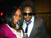 me and dwele in dc after his show .. and him supporting my cd