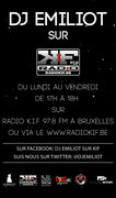 Flyer DJ Emiliot on Radio KIF97.8fm Brussels