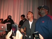 Dj Premier, Special Ed, Comedian Russell Peters, Chip Fu getting ready to go on stage