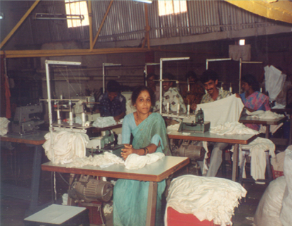 Indian woman garment factory worker