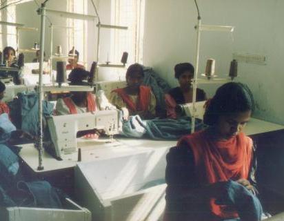 Women factory workers in Dhaka