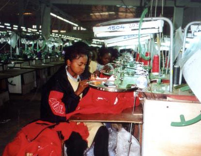 Knitwear woman workers in Madagascar