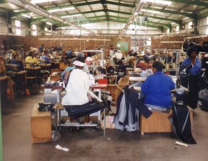 Factory workers in Lesotho