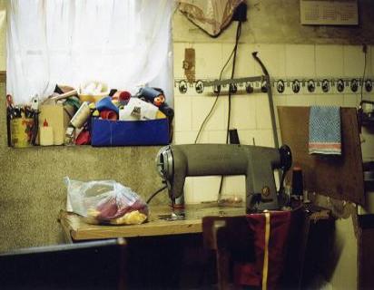 A home worker's work bench in Belgrade