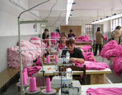 Women factory workers in Bulgaria 2004
