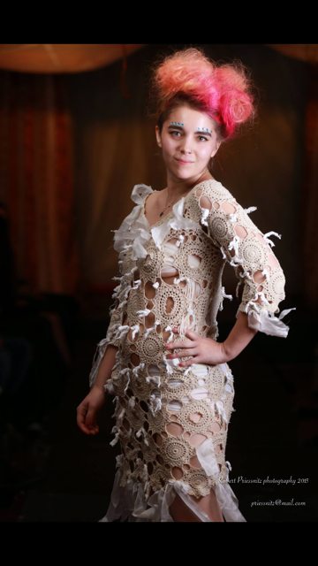 Antique crochet lace dress
