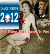 Obama 2012 Campaign Poster Mama Change Takes Time Didn't Raise No Fool!