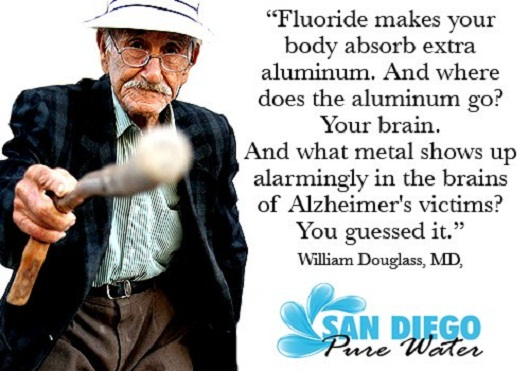 Fluoride Makes You Absord Aluminum = Alzheimers