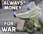 always money for war...
