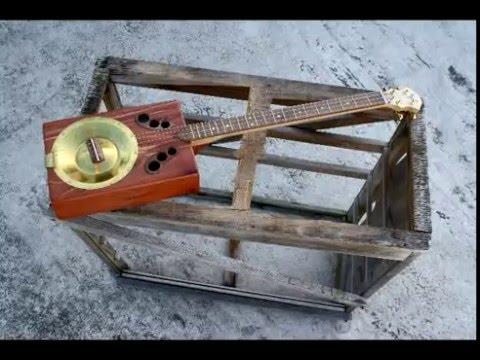 - Ride the Lightning -  Cigar Box Resophonic Guitar - Homemade Resonator Guitar