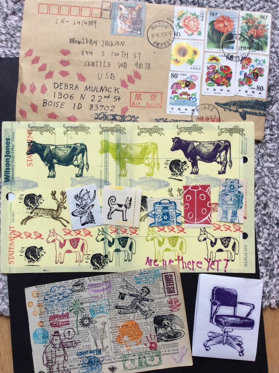 Some of Jean Jackson's great rubber stamps!!!