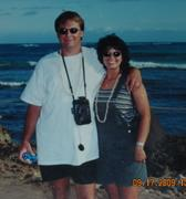 my wife and I in Hawaii on our 10th wedding aniversary