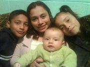 MI AMADA, Y TRES DE MIS HIJOS, BRANDON, CAROLINA Y BENJAMIN.