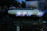 Miss Wahoo engine test firing.