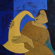 Musician Acrylic on canvas  20''x20''